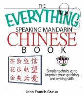The Everything Speaking Mandarin Chinese Book