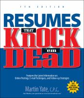 Resumes That Knock 'em Dead