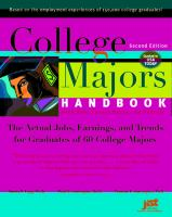 College Majors Handbook With Real Career Paths and Payoffs