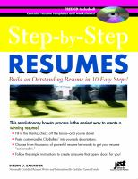 Step-by-step Resumes