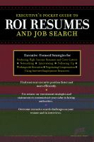 Executive's Pocket Guide to ROI Resumes and Job Search