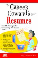 The Career Coward's Guide to Resumes
