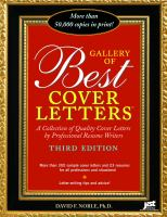 Gallery Of Best Cover Letters