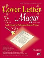 Cover letter magic : trade secrets of a professional resume writer