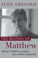 The Meaning of Matthew