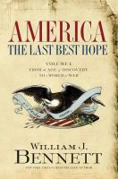 America, the Last Best Hope