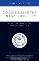 Doing Deals in the Software Industry