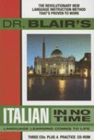 Dr. Blair's Italian in no time
