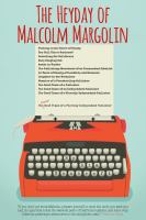 The Heyday of Malcolm Margolin