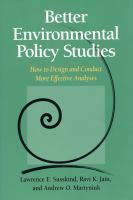 Better Environmental Policy Studies