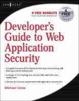 Developer's Guide to Web Application Security