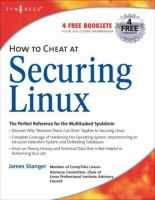 How to Cheat at Securing Linux