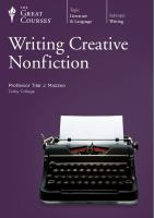 Writing Creative Nonfiction
