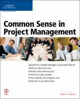 Common Sense in Project Management