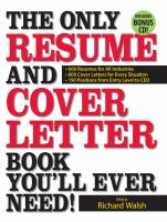 Only Resume and Cover Letter Book You'll Ever Need