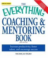 The Everything Coaching & Mentoring Book