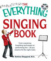 The Everything Singing Book With Cd