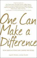 One Can Make A Difference