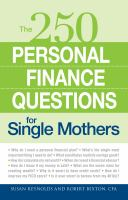 The 250 Personal Finance Questions for Single Mothers