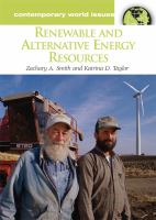 Renewable and Alternative Energy Resources