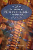 The Technical Writer's & Editor's Handbook