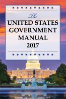 The United States Government Manual 2017