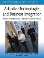 Adaptive Technologies and Business Integration