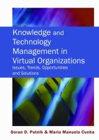 Knowledge and Technology Management in Virtual Organizations