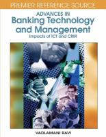 Advances in Banking Technology and Management