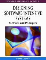 Designing Software-intensive Systems
