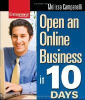 Entrepreneur Magazine's Open An Online Business in 10 Days