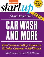 Start your Own Car Wash and More