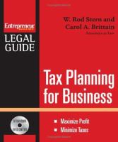 Tax Planning for Business