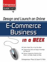 Design and Launch An Online E-commerce Business in A Week