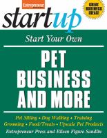 Start your Own Pet Business and More