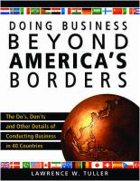 Doing Business Beyond America's Borders