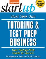 Start your Own Tutoring and Prep Test Business