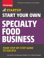 Start your Own Specialty Food Business