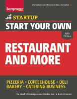 Start your Own Restaurant Business and More
