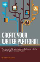 Create your Writer Platform