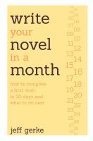 Image: Write your Novel in A Month