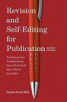 Revision and Self-editing for Publication