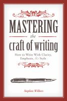 Mastering the Craft of Writing