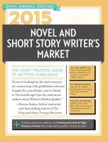 2015 Novel & Short Story Writer's Market