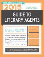 2015 Guide to Literary Agents