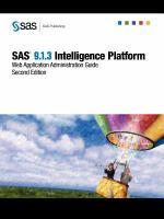 SAS 9.1.3 Intelligence Platform