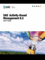 SAS Activity-based Management 6.3