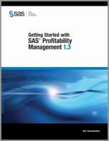 Getting Started With SAS Profitability Management 1.3
