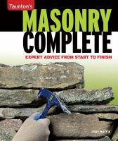 Tauton's Masonry Complete