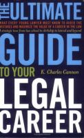 The Ultimate Guide to your Legal Career